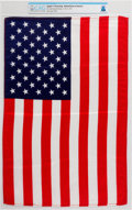 Explorers:Space Exploration, Apollo 11 Flown Largest Size American Flag Directly From TheArmstrong Family Collection™, CAG Certified....