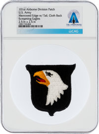 Patches: U.S. Army 101st Airborne Division Patch, The Screaming Eagles, Directly From The Armstrong Family Collection, C...