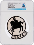 Explorers:Space Exploration, Patches: U.S. Air Force 346th Tactical Airlift Wing Patch Directly From The Armstrong Family Collection, CAG Certified. ...