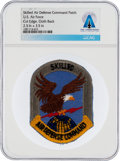Explorers:Space Exploration, Patches: U.S. Air Force Skilled Air Defense Command Cut Edge Patch Directly From The Armstrong Family Collection™, CAG Certifi...