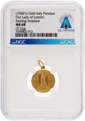 Explorers, Our Lady of Loreto 18K Gold MS68 NGC Pendant Directly From The Armstrong Family Collection™, CAG Certified....