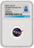 Explorers:Space Exploration, NASA Logo Pin Directly From The Armstrong Family Collection™, CAG Certified....
