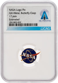 NASA Logo Pin Directly From The Armstrong Family Collection™, CAG Certified