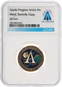 NASA Apollo Program Pin Directly From The Armstrong Family Collection™, CAG Certified