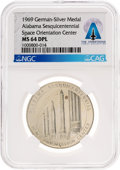 Explorers:Space Exploration, Medals: Alabama Sesquicentennial 1969 Space Orientation Center Medal, MS64 DPL NGC, Directly From The Armstrong Family Collect...