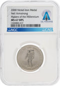 "Explorers:Space Exploration, Neil Armstrong 2000 ""Makers of the Millennium"" Token Directly From The Armstrong Family Collection™, CAG Certified...."
