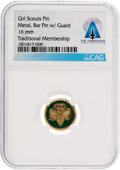 Explorers:Space Exploration, Girl Scout Traditional Membership Pin Directly From The Armstrong Family Collection™, CAG Certified....