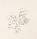 Animation Art:Production Drawing, Puppy Love Mickey and Minnie Animation Drawing (Walt Disney,1933).. ...