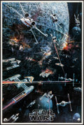 "Movie Posters:Science Fiction, Star Wars (20th Century Fox, 1977). Folded, Very Fine+. SoundtrackPoster (22"" X 33"") John Berkey Artwork. Science Fiction...."