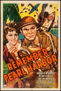 "Movie Posters:War, Remember Pearl Harbor (Republic, 1942). Folded, Fine/Very Fine. OneSheet (27"" X 41""). War.. ..."