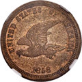 Patterns, 1858 P1C Flying Eagle Cent, Judd-203, Pollock-247, R.5, PR61 NGC....