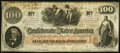 Confederate Notes:1862 Issues, T41 $100 1862 PF-20 Cr. 316A Very Fine.. ...