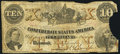 Confederate Notes:1861 Issues, T23 $10 1861 Very Good.. ...
