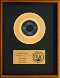"Music Memorabilia:Awards, Michael Jackson ""Billie Jean"" RIAA Gold Sales Award (Epic, 1983). . ..."