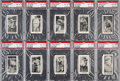 Baseball Cards:Lots, 1928 Yuengling's Ice Cream PSA-Graded Collection (16 different). ...