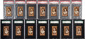 Baseball Cards:Sets, 1912 C46 Imperial Tobacco Baseball Graded Partial Set (60/90). ...