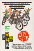 "Movie Posters:Exploitation, The Wild Rebels (Crown International, 1967). Folded, Very Fine+.One Sheet (27"" X 41""). Exploitation.. ..."