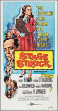 "Movie Posters:Drama, Stage Struck (RKO, 1958). Folded, Very Fine-. Three Sheet (41"" X79""). Drama.. ..."