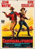 "Movie Posters:Western, The War Wagon (Universal, 1967). Folded, Very Fine-. Italian 4 - Fogli (55"" X 78""). Giorgio Olivetti Artwork. Western.. ..."
