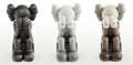 Collectible:Contemporary, KAWS (b. 1974). Passing Through Companion, set of three, 2013. Painted cast vinyl. 11-1/2 x 6-1/2 x 7-1/2 inches (29.2 x... (Total: 3 Items)