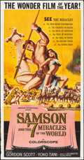 "Movie Posters:Action, Samson and the Seven Miracles of the World (American International,1961). Folded, Fine/Very Fine. Three Sheet (41"" X 78.5"")..."