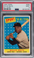 Baseball Cards:Singles (1950-1959), 1958 Topps Willie Mays All-Star #486 PSA Mint 9 - None Higher!...