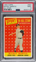 Baseball Cards:Singles (1950-1959), 1958 Topps Mickey Mantle All-Star #487 PSA Mint 9 - None Higher!...