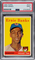 Baseball Cards:Singles (1950-1959), 1958 Topps Ernie Banks #310 PSA Mint 9 - None Higher....