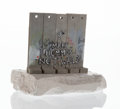 Collectible:Contemporary, Banksy X The Walled Off Hotel . Souvenir Wall Section, 2017. Painted cast resin with base. 5-1/4 x 5 x 3-1/2 inches (13....