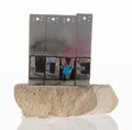 Collectible:Contemporary, Banksy X The Walled Off Hotel. Souvenir Wall Section, 2017. Painted cast resin with base. 5-1/4 x 5 x 3-1/2 inches (13.3... (Total: 2 Items)