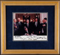 Autographs:Photos, 1993 NAFTA Signing Multi-Signed Photograph with Four Presidents (9 Signatures)....