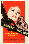 "Movie Posters:Film Noir, Sunset Boulevard (Paramount, 1950). Fine+ on Linen. One Sheet (27""X 41"").. ..."