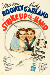 """Strike Up the Band (MGM, 1940). Fine/Very Fine on Linen. Autographed One Sheet (27.25"""" X 41.25"""") Style D"""