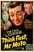 Movie Posters:Mystery, Think Fast, Mr. Moto (20th Century Fox, 1937). Folded, Fin...