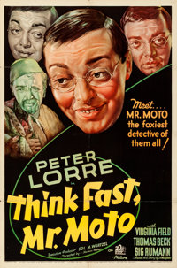 "Think Fast, Mr. Moto (20th Century Fox, 1937). Folded, Fine/Very Fine. One Sheet (27"" X 41"")"