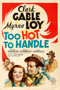 "Too Hot to Handle (MGM, 1938). Folded, Fine. One Sheet (27"" X 41"") Style D, Ted ""Vincentini"" Ireland..."