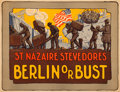 "Movie Posters:War, World War I Propaganda (c. 1918). Very Fine- on Linen. Poster (27.75"" X 21.5"") ""St. Nazaire Stevedores."". ..."