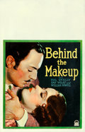 Movie Posters:Drama, Behind the Make-Up (Paramount, 1930). Very Fine- on Cardst...