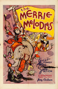 """Movie Posters:Animation, Merrie Melodies (Warner Brothers, 1933). Folded, Fine+. Stock One Sheet (27"""" X 41""""). From the collection of Leonard and Al..."""