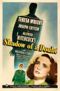 Movie Posters:Hitchcock, Shadow of a Doubt (Universal, 1943). Fine- on Linen.