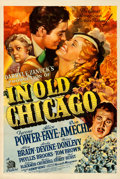 """Movie Posters:Drama, In Old Chicago (20th Century Fox, 1937). Fine/Very Fine on Linen. One Sheet (27.5"""" X 41"""") Style B. Frederic C. Madan Artwork..."""