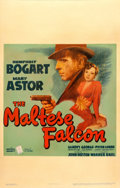 "Movie Posters:Film Noir, The Maltese Falcon (Warner Brothers, 1941). Very Good on Cardstock. Window Card (14"" X 22"").. ..."