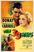 "Movie Posters:Hitchcock, The 39 Steps (Gaumont-Fox, 1935). Very Fine- on Linen. One Sheet(27"" X 41"").. ..."