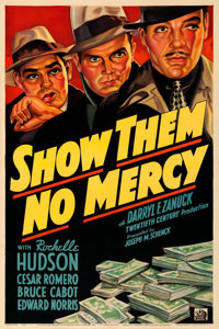 "Show Them No Mercy! (20th Century Fox, 1935). Very Fine- on Linen. One Sheet (27.25"" X 41"")"