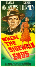 Movie Posters:Film Noir, Where the Sidewalk Ends (20th Century Fox, 1950). Fine- on...
