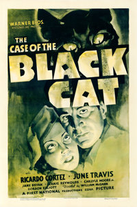 "The Case of the Black Cat (Warner Brothers, 1936). Very Fine- on Linen. One Sheet (27.25"" X 41.25"")"