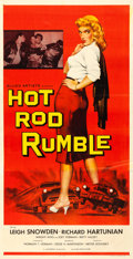 "Movie Posters:Exploitation, Hot Rod Rumble (Allied Artists, 1957). Very Fine- on Linen. Three Sheet (40.5"" X 79"").. ..."