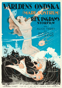 "Mare Nostrum (MGM, 1926). Folded, Very Fine. Swedish One Sheet (27.5"" X 39.5"")"