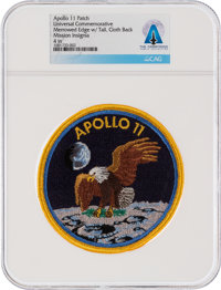 Apollo 11 Universal Commemorative Mission Insignia Patch Directly From The Armstrong Family Collection™, CAG Certified...