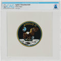 Explorers:Space Exploration, Apollo 11 Flown Beta Cloth Mission Insignia Directly From The Armstrong Family Collection™, CAG Certified. ...